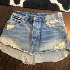 Carmar denim jean skirt